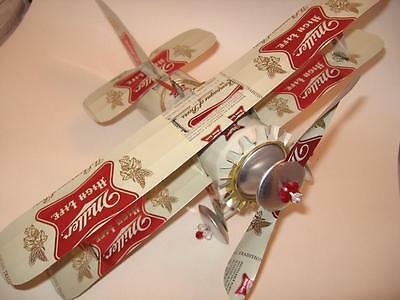 Miller High Life  Beer Can Airplane -Unique - Handmade - Wind Spinner-Airplane