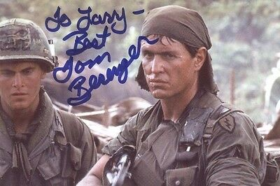 Tom Berenger  in  PLATOON-----------------2 Hand Signed Photos