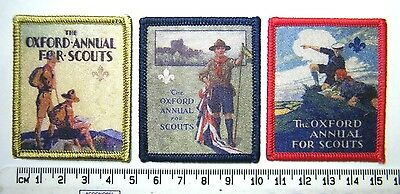 OXFORD ANNUAL SCOUT BADGE COLLECTION: UK Scouts Heritage Badges (Set of 3), NEW