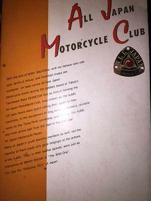 RARE All Japan Motorcycle Club book published in 1984