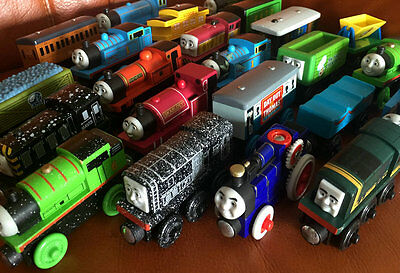 5PCS RANDOM Thomas Friends Percy Train Engine Tank Wooden Child Boy Toy