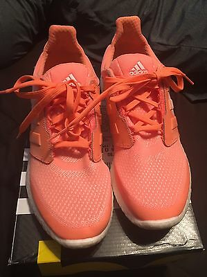Adidas Pure Boost 2 Women's Running Shoes Size 8.5 Flash Orange/White/Graphic