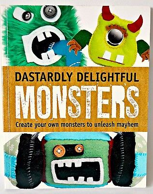 "Craft book "" Dastardly delightful monsters "" Halloween craft project book kids"