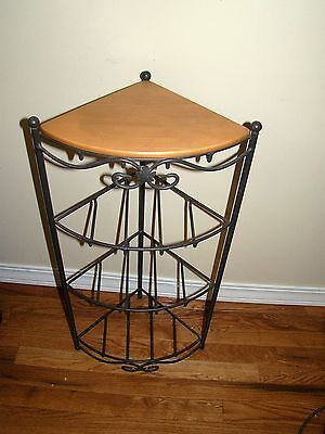 Longaberger Wrought Iron  Shelf Corner Stand And Shelf