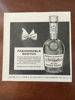 Original Vintage 1957 Old Smuggler Scotch Whisky Ad!!
