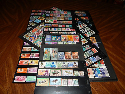 Indonesia stamps - HUGE lot of 373 mint hinged and used old stamps - super !!