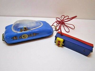 Vintage Rare 1950's Mormac Planeteer Remote Control Futuristic Space Car Works