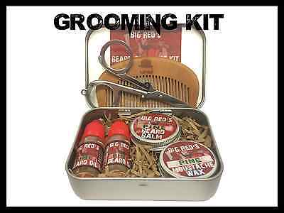 Big Rouge Naturel Taillage De Barbe Conserve Kit Ensemble 4-6p. Wax Baume Huile