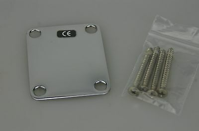 Fender Deluxe Series Big Block Telecaster NECK PLATE w/Screws Chrome MIM 9888