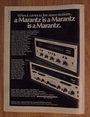 1973 Print Ad MARANTZ Stereo Receivers ~ A Marantz is a Marantz is a Marantz