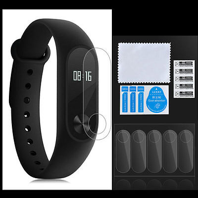 5pcs Clear Anti-Scratch Screen Protector Cover For Xiaomi Mi Band 2 Smartband