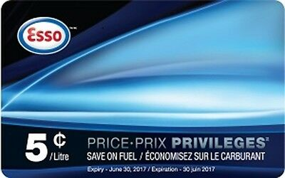 ESSO Price Privileges Fuel Savings Card - 5 cents off 680 L ($34 value)