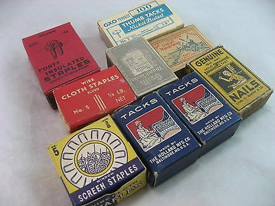 Nails Tacks Furniture Upholstery LOT New Old Stock, Antique Restoration