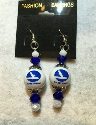 Eastern Airlines Earrings Stewardess Flight Attendant  Promotional Collectable