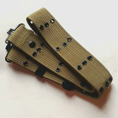 WW2 WWII US Army Military Ultimate Arms Gear Tactical Belt Khaki Color