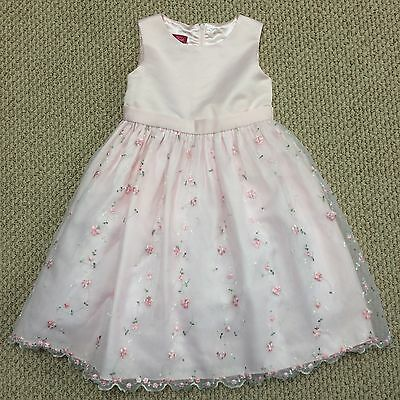 Girls Pink Floral Dressy Party Frilly Princess Dress Size 5 FABULOUS!
