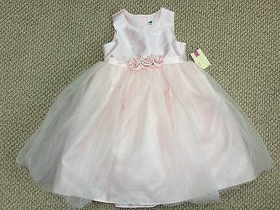 Cherokee NWT Girls Pink Dressy Party Frilly Princess Dress Size 5 FABULOUS!