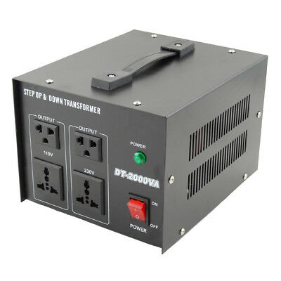 2000W Step Down / Up AC Transformer Regulator 240V-110V  AU-US Voltage Converter