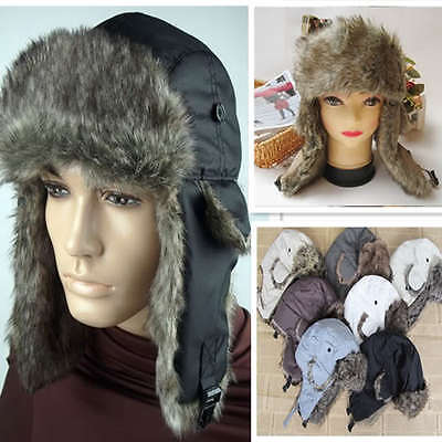 Trapper Bomber Warm Russian Trooper  EAR FLAPS Winter Ski Hat Men Women Cap New