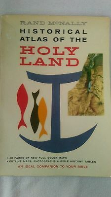 vintage paperback 1959 Historical  Atlas of the Holy Land by Rand Mcnally
