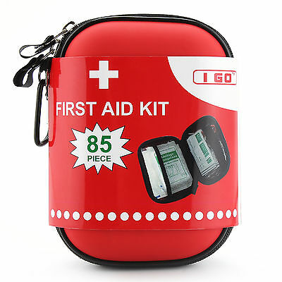 Waterproof Survival First Aid Kit (85 pcs) for Emergency, Home, Hiking ,Outdoor