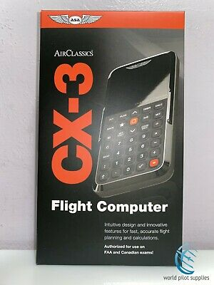 BNIB ELECTRONIC FLIGHT COMPUTER by ASA p/n ASA CX-3 ELECTRONIC PILOT'S E6-B