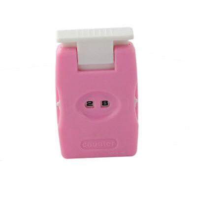Pink Crochet Knitting Sewing Craft Tool Row Counter Stitching Marker Counter