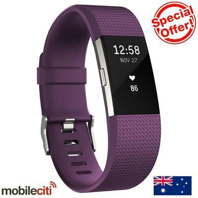 Fitbit Charge 2 Heart Rate + Fitness Wristband Large - Plum
