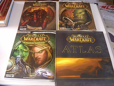 4 World of WarCraft Roleplaying books includes Atlas - Brady Games