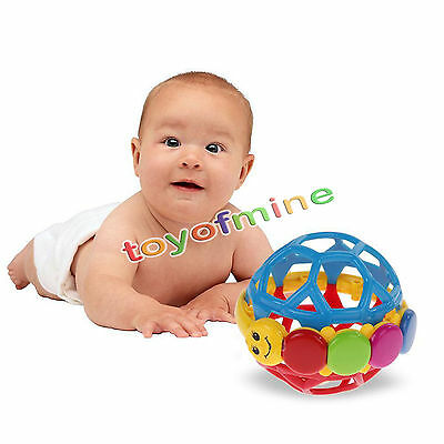 Cute Infant Handbells Soft Ball Developmental Toy Bed Bells Kids Baby Toy Rattle