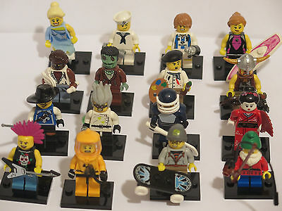 LEGO COLLECTIBLE MINIFIGURES SERIES 4 RARE LOT - complete set