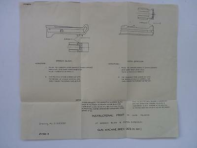 Ww2  Anzac   Aif - Breech Block - Bren Gun -  Wall Chart