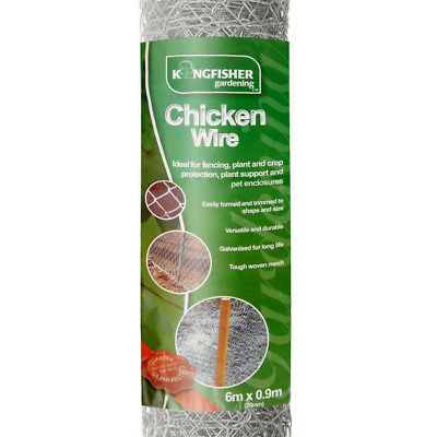 Chicken Wire Netting Large 25mm woven mesh 6m x 0.9m Fencing