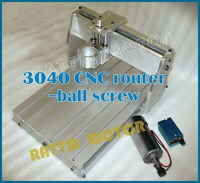 【USA Stock】 3040 CNC Router Engraver Engraving Machine frame + DC 300W Spindle