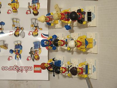 LEGO COLLECTIBLE MINIFIGURES SERIES Team GB RARE LOT - complete set