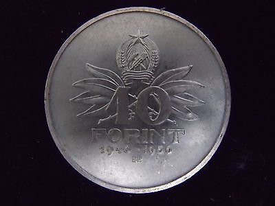 1956 Hungarian 10 Forint Silver Coin