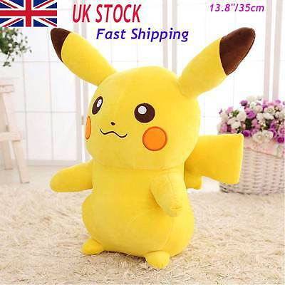 Pokemon Go Cute Pikachu Figure Big Plush Toys Large Soft Stuffed Doll 14'' UK IM