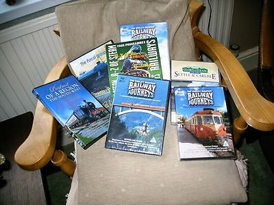7 x RAILWAY ENTHUSIAST DVD'S. SOME DOUBLE, SOME UNOPENED.