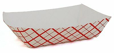Southern Champion Tray 0401 #25 Southland Paperboard Red Check Food Tray, 1/4-l