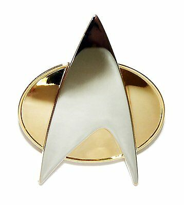 Star Trek COSplay Starfleet Captain Badge Combadge Pin Insignia Brooch Gift Box