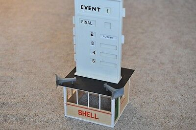 Scalextric Event Board and Hut with inserts A201 EXCELLENT