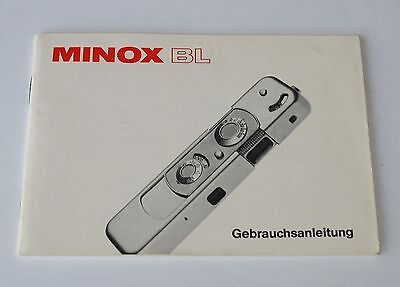 OWNERS MANUAL for MINOX BL GERMAN LANGUAGE EDITION MINTY! ANLEITUNG