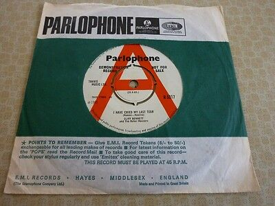 CLIFF BENNETT and the REBEL ROUSERS, RARE 1965 UK PARLOPHONE DEMO 45 SINGLE.