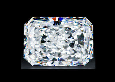 2.5CT (9x7mm) RADIANT CRUSHED ICE CUT LOOK Russian Diamond Simulated Loose Stone