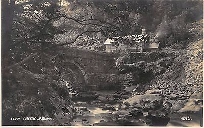 Postcard Pont Aberglaslyn real  photo