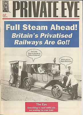 Private Eye Mag # 891 9 February 1996 British Rail Privatisation cover Southern