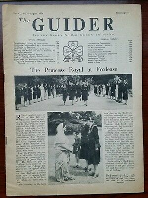 The Guider August 1954 Vol. XLI No. 8. Vintage Girl Guides magazine.