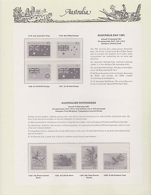 Australian 1991 Seven Seas Hingless set of 6 pages (no stamps)