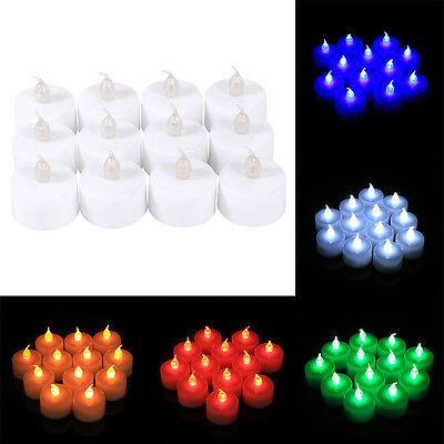 12pcs Electric Candles Tealight LED Tea Light Flameless Wedding Decor TP
