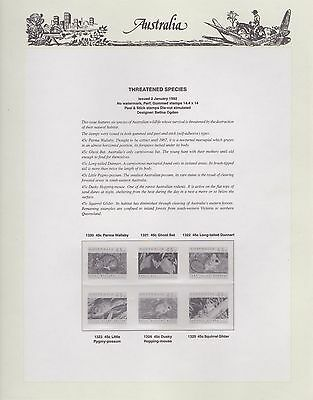 Australian 1992 Seven Seas Hingless set of 11 pages (no stamps)